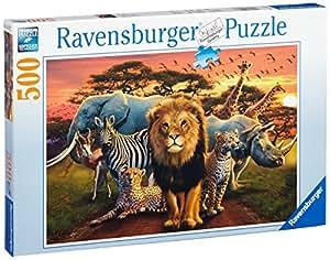 Ravensburger 14177 - Savanne im Abendrot 500 Teile Puzzle