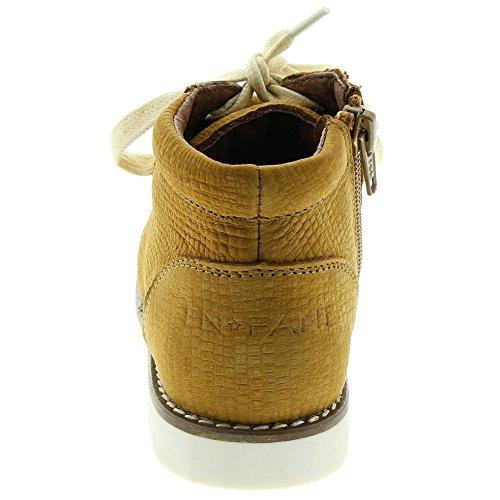 EnFant Mixte, Boots à Fermeture Eclair, Cuir 50 Tobacco