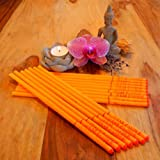 16 Ohrenkerzen (8 x 2er Set) - 25 cm - Duft: Orange