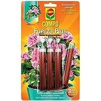 Compo Fuerza Plus - Fertilizante para uso en jardinería doméstica y plantas de interior, 1 paquete con 3 unidades