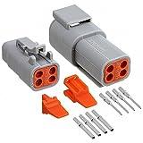 Amphenol wasserdichte Steckverbinder Set Stecker Buchse 4-pin IP69K ATM 16-22AWG