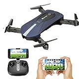 EACHINE Dron Camara, E52 Drone 2.0MP 720P HD Cámara Gran Angular Control Altura WiFi FPV (Azul)