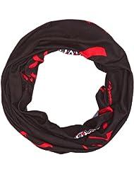 HAD Four Season - Pañuelo para el cuello/cabeza unisex, color negro / rojo, 24 x 50 cm
