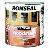 Ronseal 38688 10 Year Woodstain Wood Stain, Natural Pine, 2.5 Litre