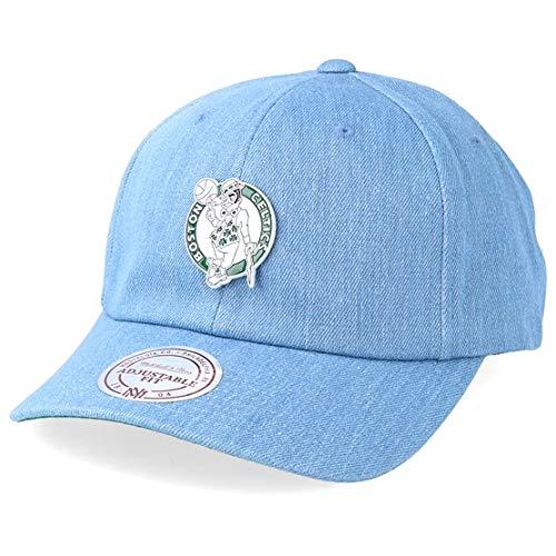 Mitchell & Ness Herren Snapback Caps HWC Bosten Celtics Denim Pin Strapback blau Verstellbar