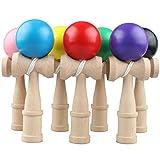 Balai Kendama Wooden Ball Tipps Spielzeug(Zufällige Farbe)