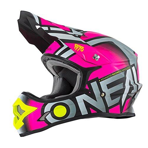 O 'Neal Radium 0623-65 - Casco MX para motocross, enduro y quad offroad, color rosa, medium