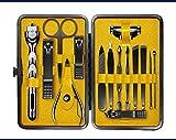 DHXYII Set di coltelli per manicure Set Per Pedicure Da Uomo Set Da Manicure Set Da Barba Per Rasoio Utilità Forbici Coltello Kit Per Nail Art