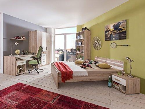 Jugendzimmer Cariba Komplett Verschiedene Ausführungen Kinderzimmer Möbel (Jugendzimmer Cariba 7tlg, Eiche San Remo)