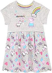 Peppa Pig Vestido para niñas Unicornios y Arco Iris