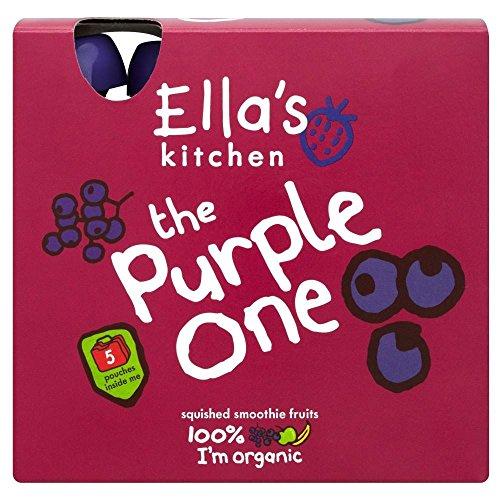 La Cuisine De Ella Les Violettes Un Organiques De Fruits Smoothie Écrasés (De 5X90G)
