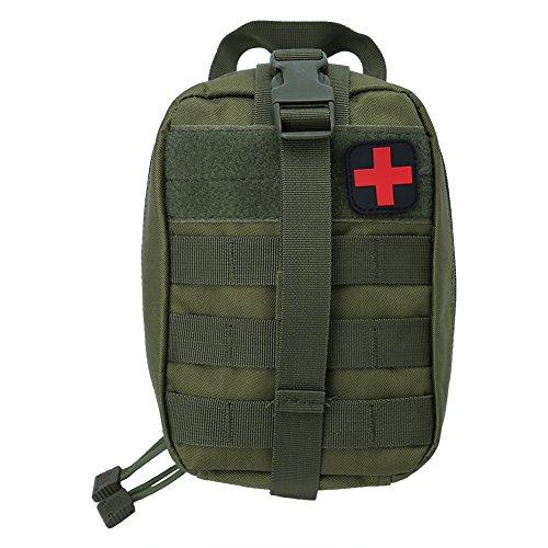 Erste Hilfe Tasche, Medizinischer Nutzen Mehrzwecknotfallbeutel für Wandern Reitens Camping Outdoor Sports(Grün)