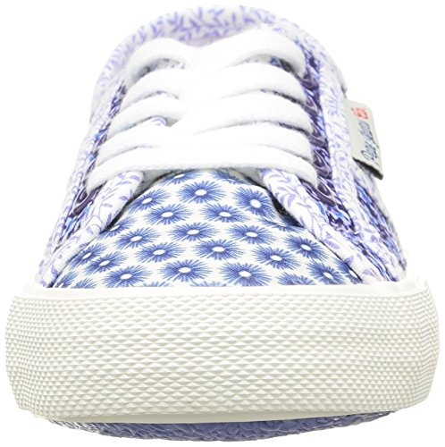 Pepe Jeans Baker Flowers, Baskets Basses fille Bleu (552 Regal Blue)