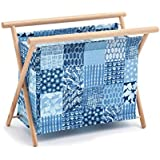 Hobby regalo 'Patchwork tela vaquera' tamaño grande cesta de costura (23x 48,5x 35,5cm D/W/H)
