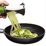 ADKIFN Cucina Conveniente Affettatrice di Verdure Grattugia Frutta Tagliere A Mano Verdura Cutr Spirale Cetriolo Tagliatelle Tagliafili Tagliacavo 12,5 X 7 Cm Nero