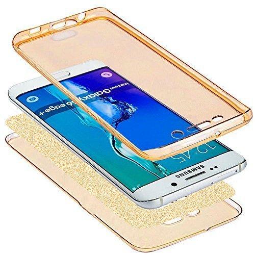 Custodia Cover per Samsung Galaxy S8,KunyFond Lusso Moda Brillantini Glitter Bling Placcatura Custodia Ultra Slim Soft Tpu Silicone Case Cover Scintillare Luccichio Cristallo Morbida Gel Protettiva Cu oro
