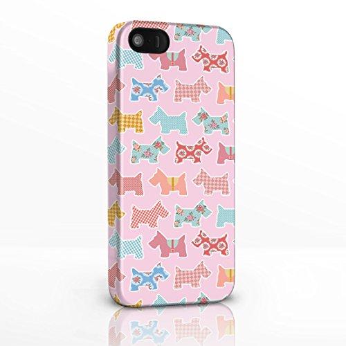 Kitsch Vintage Floral Gemustert Shabby Chic Handy Fällen für das iPhone Serie. 3D Hard Rückseite Glossy Cover für iPhone Modelle., plastik, 2. Scottie Dogs on White Background, iPhone 4 / 4S 6. Scottie Dogs on Light Pink Background