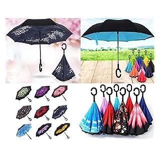 Regenschirm, wendbar mit umgekehrter Öffnung, Muster nicht wählbar.