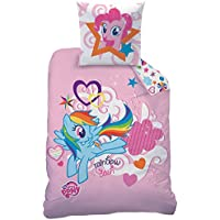 My Little Pony Rainbow Sky Juego de Cama de algodón, Color Rosa, 135 x
