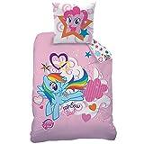 My Little Pony Rainbow Sky Juego de Cama de algodón, Color Rosa,...