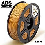 Filamento impresora 3D Enotepad ABS, filamento ABS 1.75 mm 1 kg, precisión dimensional 1.75 ± 0.02 mm, impresoras 3D ABS oro