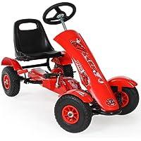TecTake Go Kart Coche con Pedales rojo