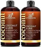 ArtNaturals Kokos-Limone Shampoo und Conditioner Set - (2 x 16 Fl Oz / 473 ml) - mit Aloe Vera und Hagebuttenextrakt - Intensiver Feuchtigkeitsspender für alle Haartypen