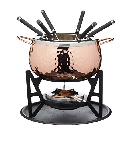 FONDUE SET - COPPER FINISH - GIFT BOXED BY KITCHEN CRAFT