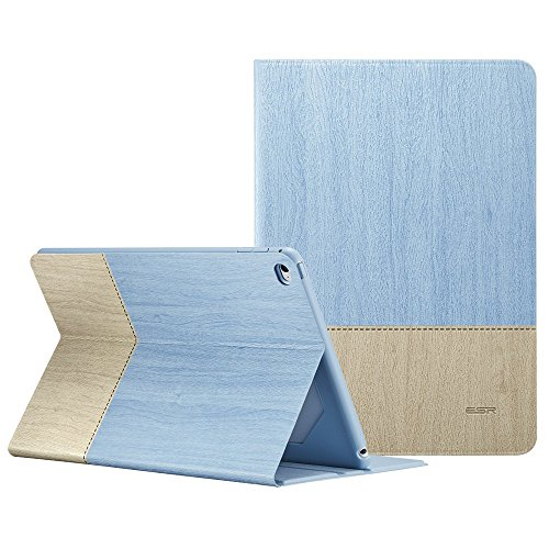 ESR Hülle komptatibel mit iPad Air 2 (2014 Modell 9,7 Zoll), Hochwertige Schutzhülle mit Auto aufwachen/Schlaf Funktion Einstellbarem Blickwinkel Smart Case Cover für iPad 6th Generation - Sky - Air Oxford