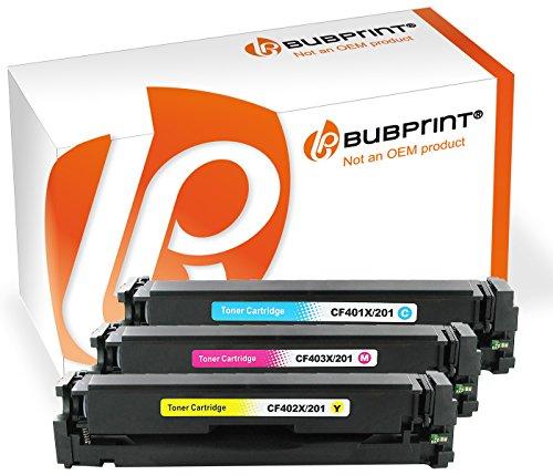 Preisvergleich Produktbild Bubprint 3 Toner kompatibel für HP CF401X CF402X CF403 X 201X für Color Laserjet Pro M252DW M252N M274N M274DN MFP M277DW MFP M277N Cyan Magenta Gelb