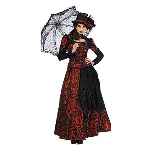 Lady Rose Historisches Kostüm Damen 3tlg Rock Bluse Hut Fackeln im Sturm Design - XS (Historische Kostüm Hüte)