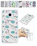 E-Mandala Samsung Galaxy A3 2016 Hülle Ultra Dünn Slim Durchsichtig Silikon Schutzhülle Handy Tasche Etui Handyhülle Transparent mit Muster - Einhorn Kawaii
