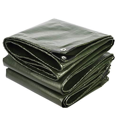 Telo impermeabile tarp impermeabile telo antipioggia autocarro protezione solare telo cerato - argento verde 180 g/m² (dimensioni : 4x8m)