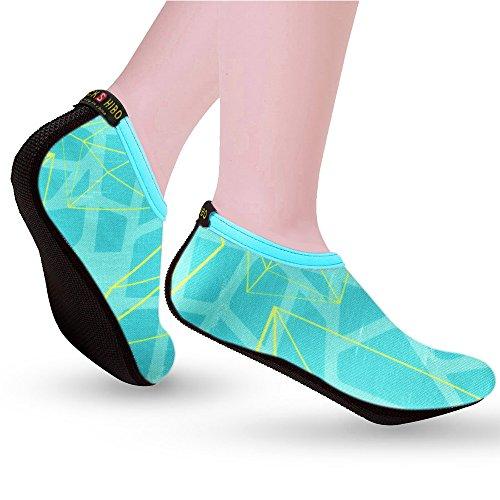 De Meninas Flutuante Jackshibo As Sapatos Mulheres Ligeiramente Homens Praia B Verde Para Sapatos nvSxvF