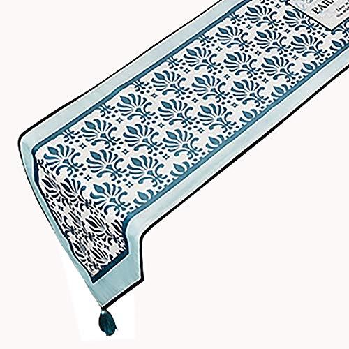 Chemin de table en Peluche Court avec Pompon, Couvercle du Meuble TV, Convient pour Table de Salle à Manger/Table Basse/Meuble (Couleur : B, Taille : 30×180cm)