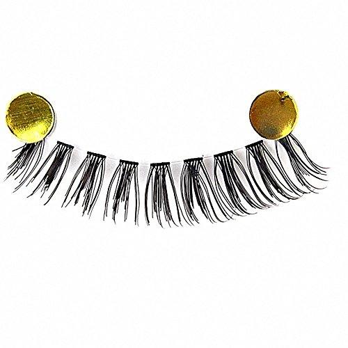 Lumanuby 10 paires de mode Naturel fait à la main Long Faux Noir Cils Maquillage Sérum pour les Cils Magnétique Faux-cils Naturel Réglable Faux Noir Cils - Magnet Eyelashes Ultra mince Tiges transparentes