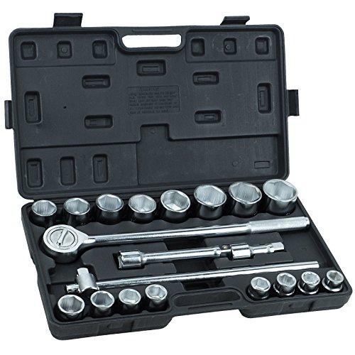 Steckschlüsselsatz INDUSTRIE LKW Knarrenkasten 21 tlg 19-50 mm 6-kant MF780578