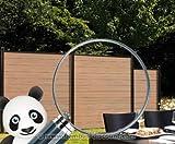 Sichtschutzzaun WPC System Set mandel, 178x183cm - Sichtschutz, Sichtschutz Elemente, Sichtschutzwand, Windschutz, Sichtschutzzäune
