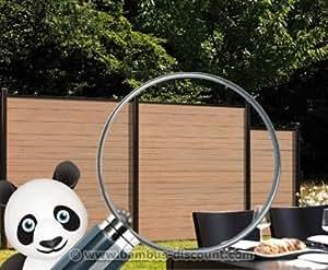 sichtschutzzaun wpc system set mandel. Black Bedroom Furniture Sets. Home Design Ideas