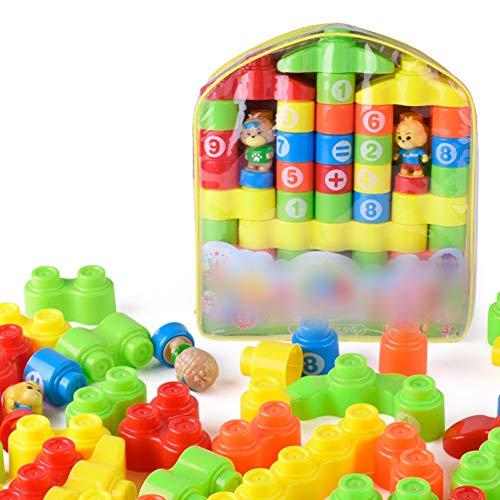 NaiCaisy Kinder große Partikel Plastikblöcke Spielzeug Kinder Frühen Unterricht Kunststoff Große Partikel Bausteine Baby Puzzle Montiert DIY Baustein Spielzeug Set 59 Teile / Satz