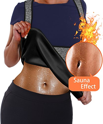Damen Hot Schweiß Neopren Sport Vest Top, Body Shaper Korsett Waist Taille Cincher Sauna Tank (M(Fit 28.3-32.2 Inch Waist), Grey(Local Seller)) (Boyshort Hot)