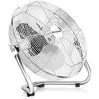 Brandson - Macchina del vento / Ventilatore da 35cm | 3-livelli di potenza | 48W di potenza assorbita | Design Retro / Cromo | Argento