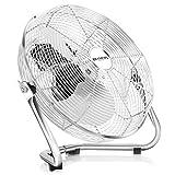 immagine prodotto Brandson - Macchina del vento / Ventilatore da 50cm | 3-livelli di potenza | 120W di potenza assorbita | Design Retro / Cromo | Argento