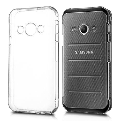 kwmobile Étui TPU silicone élégant et sobre pour Samsung Galaxy Xcover 3 en transparent