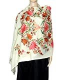 Beautiful floral embroidery stole/shawl ...