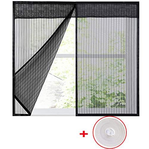 WYMNAME Bildschirm mesh fenstervorhang, Moskitonetz mesh screen protector Fenster-netting-moskitonetz Ausgestattet, um mehrere fenster-schwarz 100x120cm(39x47inch)