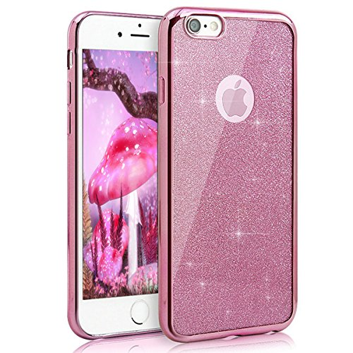 iPhone 7 Coque Silicone,iPhone 7 Coque Transparente,iPhone 7 Coque Crystal Bling Bling,iPhone 7 Coque Ultra-Mince Etui Housse avec Bling Diamant,iPhone 7 Silicone Case Slim Soft Gel Cover,EMAXELERS iP A TPU 1