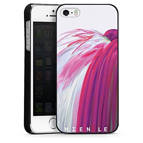 Apple iPhone 5s Housse Étui Protection Coque HIEN LE Oiseau Fashion CasDur noir