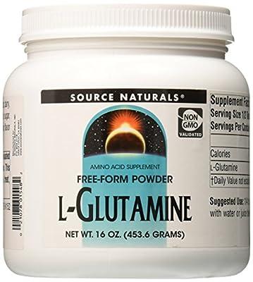 Source Naturals L-Glutamine, Free Form Powder, 16 oz (453.6 g) by Source Naturals