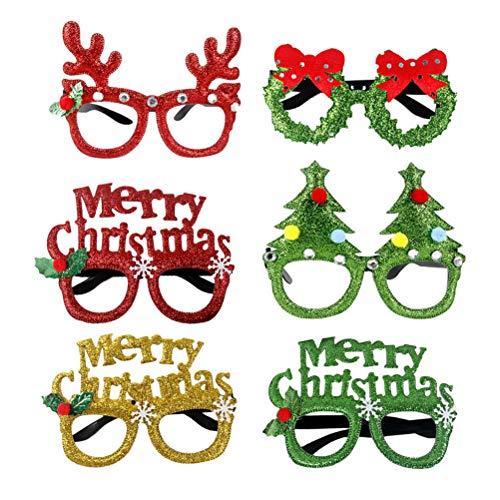 BESTOYARD 2 Stücke Weihnachten Brille Weihnachtsbaum Rentier Spaßbrille Partybrille Weihnachtsdeko Weihnachten Geschenk für Kinder Erwachsene Kostüm (Zufällig) (Weihnachtsbaum-kostüme Für Kinder)